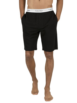 Calvin Klein Logo Waistband Sweat Shorts - Black