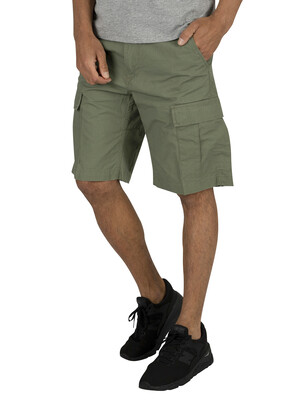 Carhartt WIP Aviation Cargo Shorts - Dollar Green Rinsed