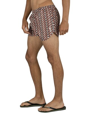 Religion Arrow Swim Shorts - White/Orange