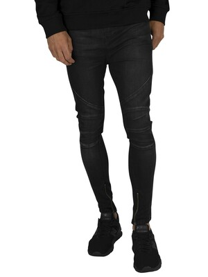 Religion Blade Jeans - Washed Black