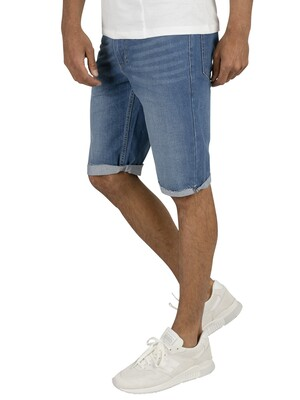 Religion Hackney Denim Shorts - Rehab Blue