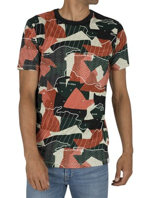 Scotch & Soda Allover Print T-Shirt - Navy