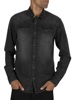 Scotch & Soda Ams Blauw Denim Shirt - Antra