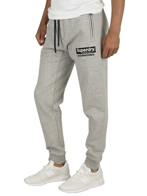 Superdry International Applique Joggers - Silver Glass Feeder
