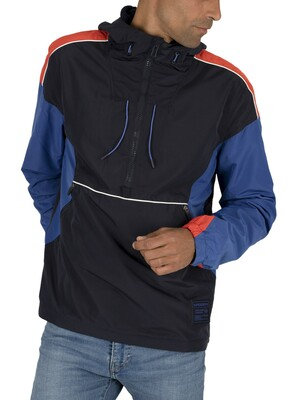 Superdry Jared Overhead Cagoule Jacket - Blue