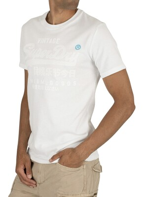 Superdry Premium Goods Tonal T-Shirt - Optic