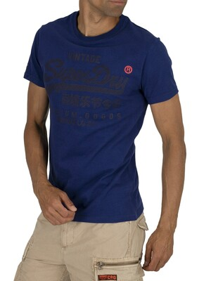 Superdry Premium Goods Tonal T-Shirt - Blueprint