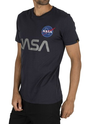 Alpha Industries NASA Reflective T-Shirt - Rep Blue