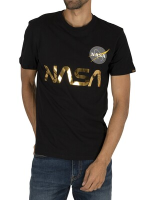 Alpha Industries NASA Reflective T-Shirt - Black/Gold