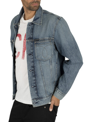 Calvin Klein Jeans Omega Slim Denim Jacket - Blue Wash