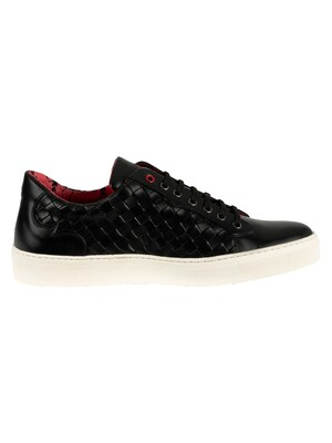 Jeffery West Leather Trainers - Black