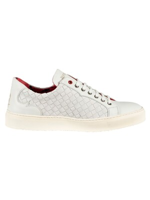 Jeffery West Leather Trainers - White
