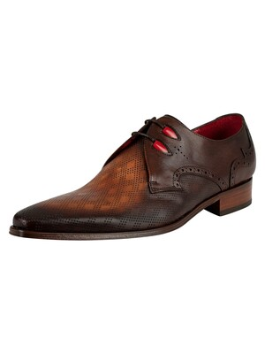 Jeffery West Vintage Leather Shoes - Mid Brown