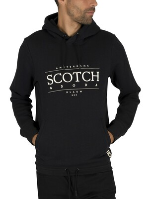 Scotch & Soda Graphic Pullover Hoodie - Black