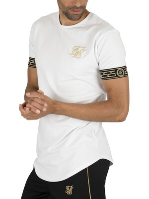 Sik Silk Cartel Cuff T-Shirt - White/Gold