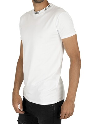 Sik Silk High Collar Logo T-Shirt - White