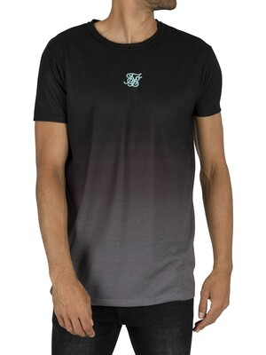 Sik Silk Revere Collar Box T-Shirt - Black/Grey