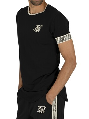 Sik Silk Runner Cuff Gym T-Shirt - Black