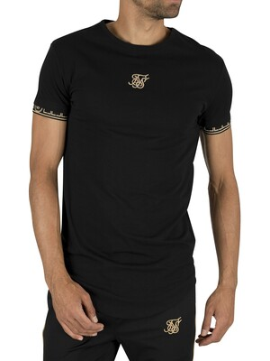 Sik Silk Scope Cartel Gym T-Shirt - Black/Gold