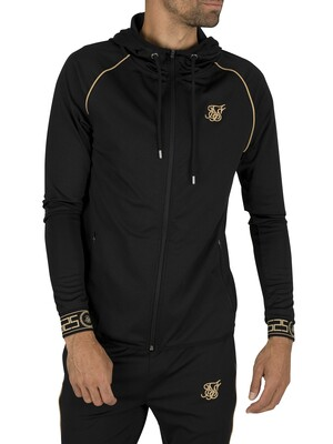 Sik Silk Scope Cartel Zip Hoodie - Black/Gold