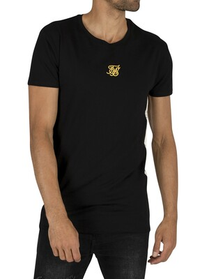 Sik Silk Side Taped T-Shirt - Black/Gold