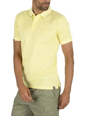Superdry Classic Micro Pique Polo Shirt - Citron