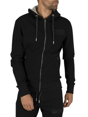 Superdry International Applique Zip Hoodie - Black