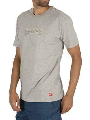 Superdry International Youth Box Fit T-Shirt - Silver Glass Feeder