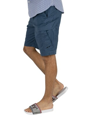 Superdry World Wide Cargo Shorts - Bayside Navy