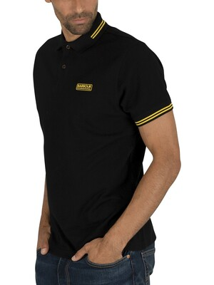 Barbour International Essential Tipped Polo Shirt - Black