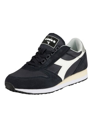Diadora Caiman Suede Trainers - Blue Denim