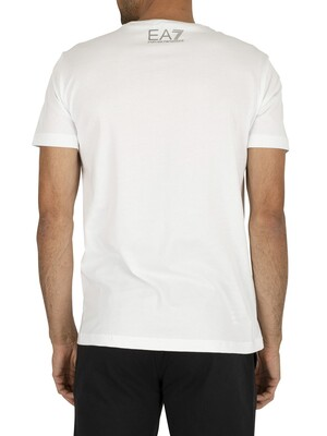 EA7 Jersey Graphic T-Shirt - White