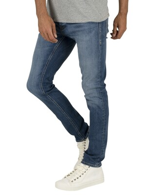 Jack & Jones Glenn Original 814 Slim Jeans - Blue Denim