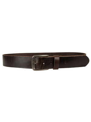 Levi's Alturas Leather Belt - Dark Brown