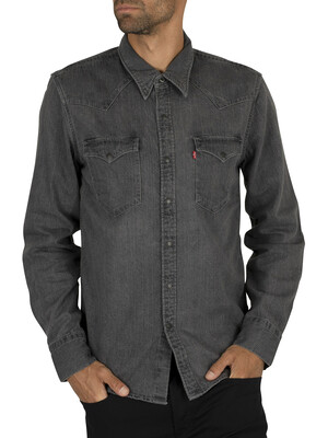 Levi's Barstow Western Shirt - Black Worn In