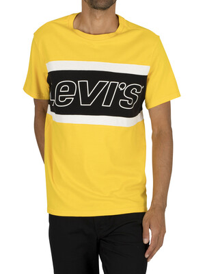 Levi's Colour Block T-Shirt - Yellow/Black
