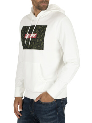 Levi's Graphic Boxtab Pullover Hoodie - White