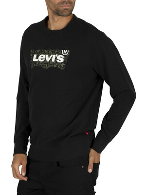 Levi's Graphic Sweatshirt - Animal Mineral Black