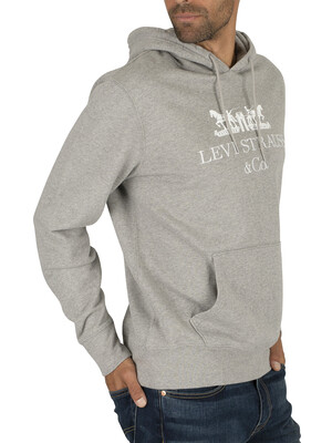 Levi's Graphic Text Pullover Hoodie - Grey