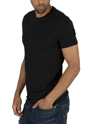 Levi's Slim 2 Pack Crew T-Shirts - Black