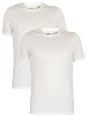 Levi's Slim 2 Pack Crew T-Shirts - White