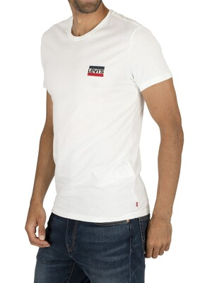 Levi's Slim 2 Pack Graphic T-Shirt - White/Black