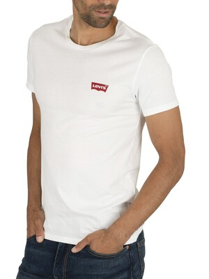 Levi's Slim 2 Pack Graphic T-Shirt - White/Grey