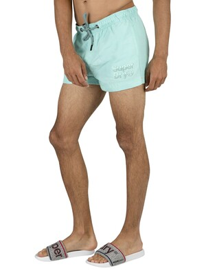 Superdry Sorrento Pastel Swim Shorts - Aqua