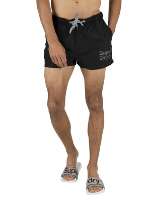 Superdry Sorrento Pastel Swim Shorts - Black