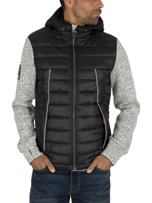 Superdry Storm Flash Hybrid Jacket - Light Grey Grit