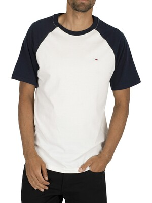Tommy Jeans Contrast Sleeve T-Shirt - Black Iris Navy