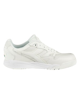 Diadora Rebound Ace Leather Trainers - White