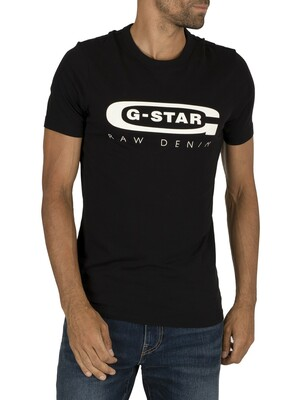 G-Star Graphic Slim T-Shirt - Dark Black
