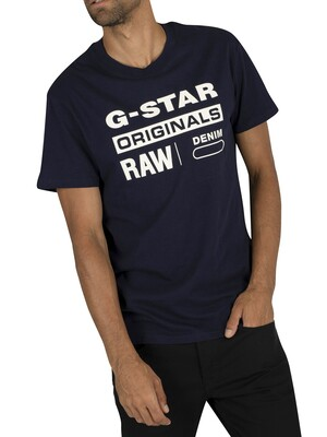 G-Star Graphic T-Shirt - Sartho Blue